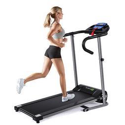 1100W Folding Treadmill Electric Support Motorized Power Run