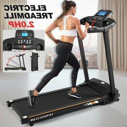 2HP Ultra-quiet Motorized Electric Treadmill 5Layer Wide Run