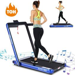 ANCHEER 3.3HP Folding Treadmill Electric Incline Fitness Tra