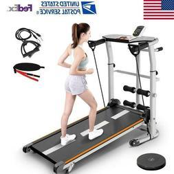 4 In 1 Folding Manual Treadmill Shock Running Working Machin