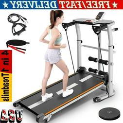 4 in 1 Folding Treadmill Running Jogging Machine Gym Fitness