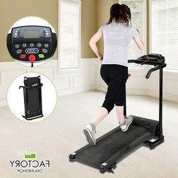 800W Folding Electric Treadmill Running Machine Fitness Gym