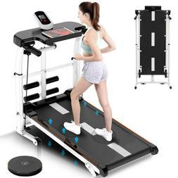 Folding Manual Treadmill 4-in-1 Shock Running Working Machin