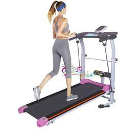 Folding Manual Treadmill Cardio Incline Home Fitness Exercis