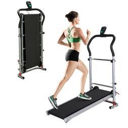 folding manual treadmill working machine cardio fitness