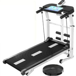 Folding Manual Treadmill Working Machine Cardio Fitness Exer