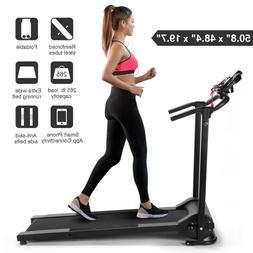 Folding Treadmill Electric Support Motorized Power Running F