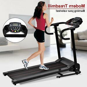 1100w motorized electric treadmill folding running cardio