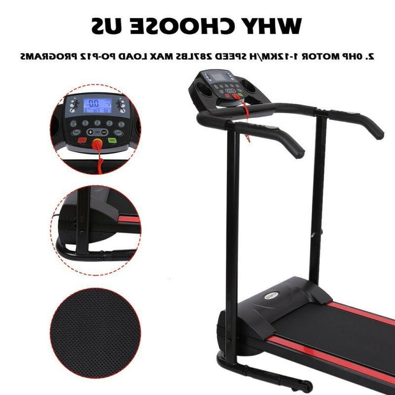 1100W Treadmill Folding Machine Portable