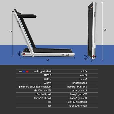 2.25HP 2 Folding Treadmill W/Bluetooth Remote Control
