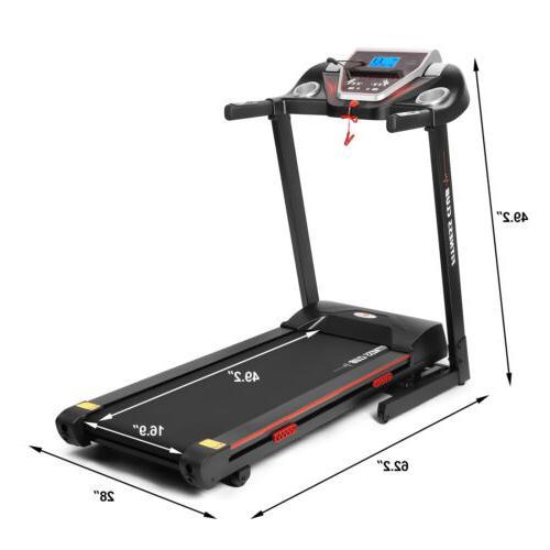 2.5 HP Folding Electric Treadmill Incline