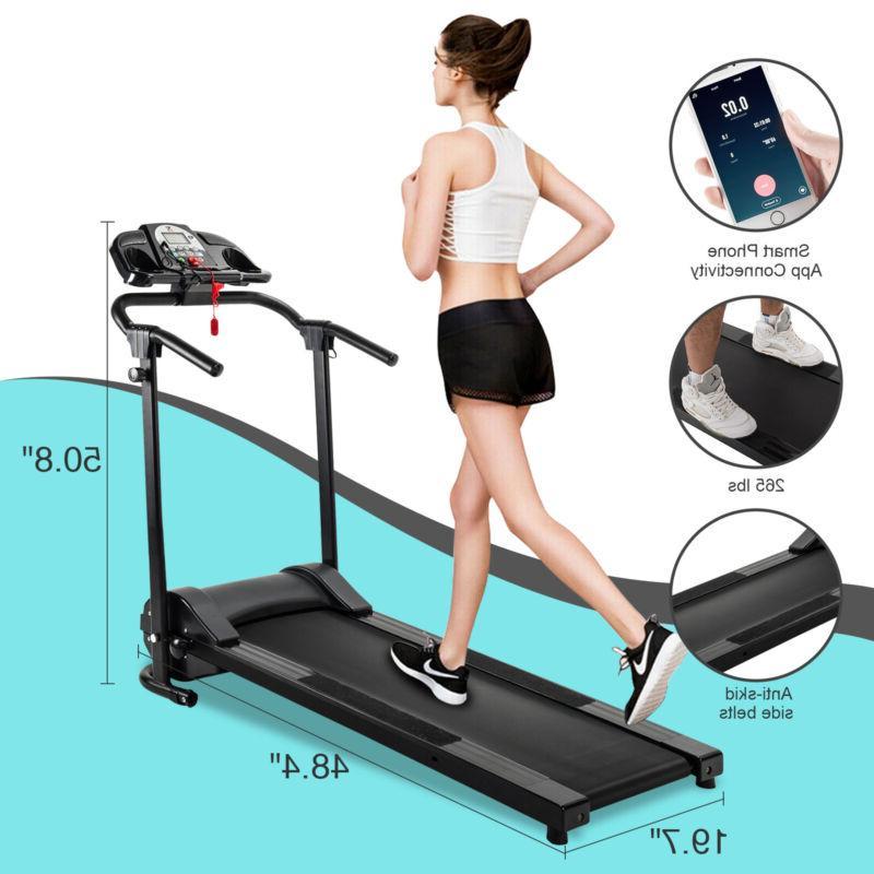 750w foldable electric motorized treadmill running jogging