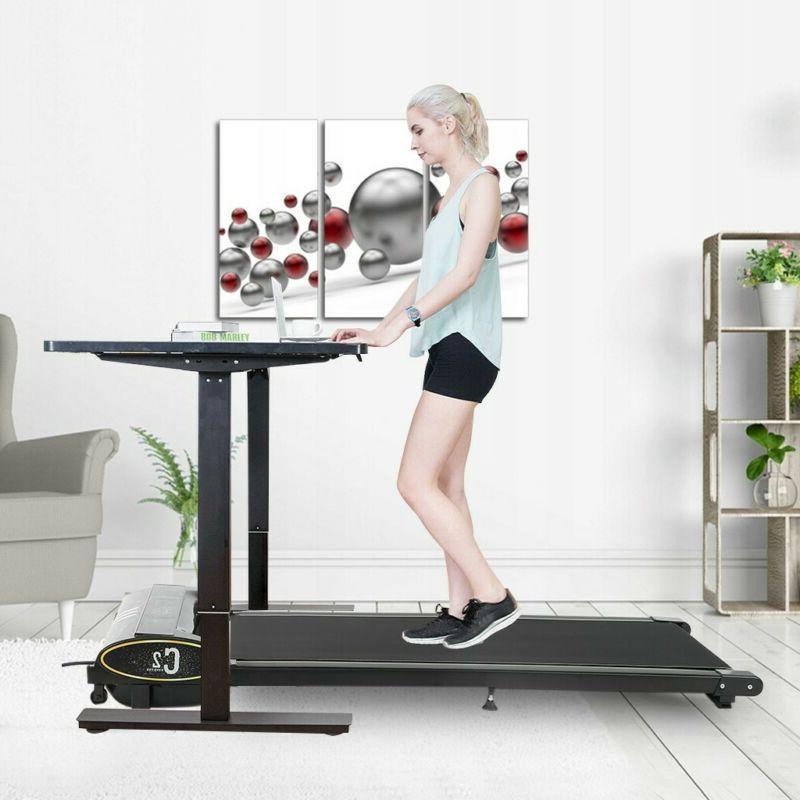 Electric Treadmill Under Treadmills Fitness Control Black
