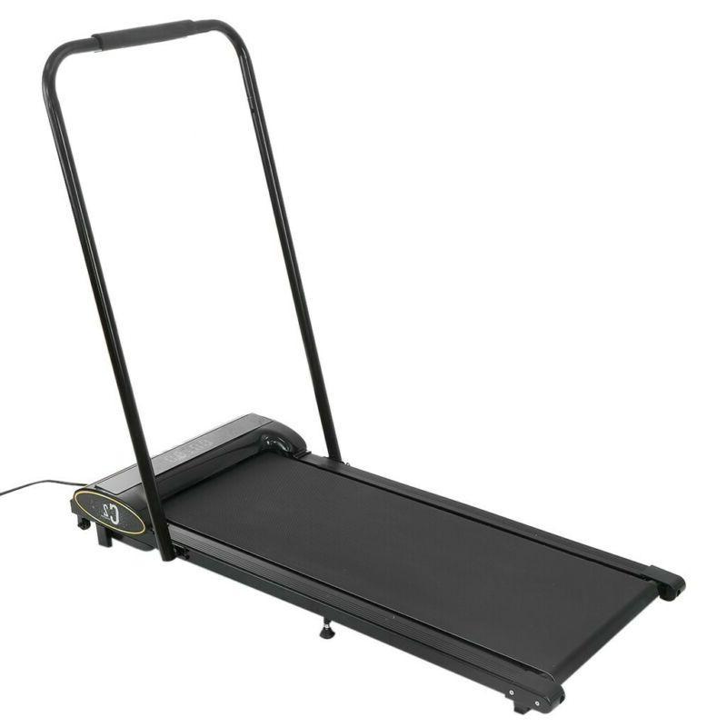 Electric Treadmills Fitness Training w/Remote Control Black