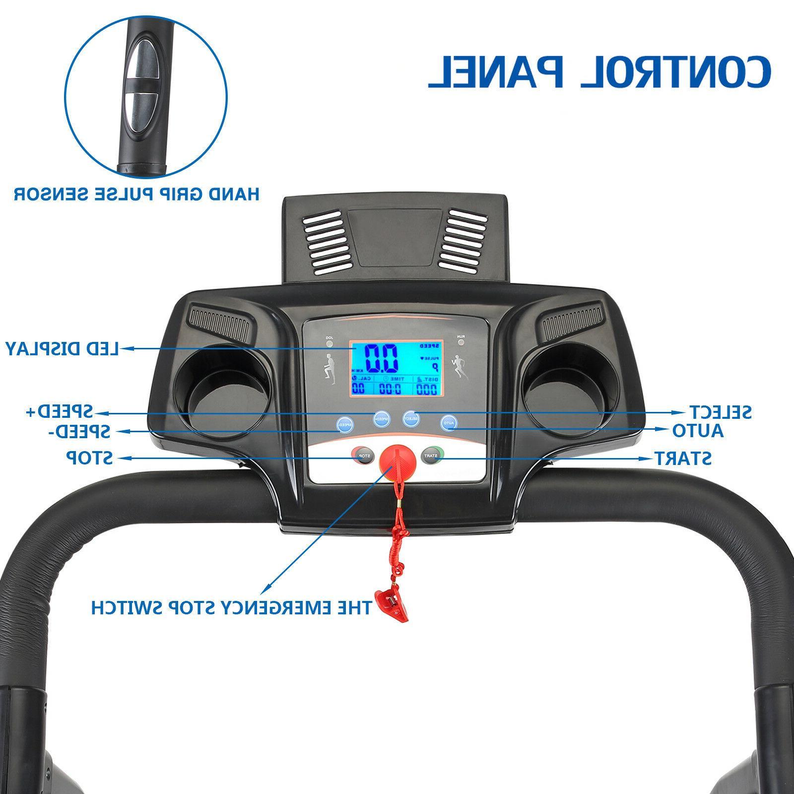 2HP Folding Treadmill Electric Motorized 12KM/H Running Fitness Machine