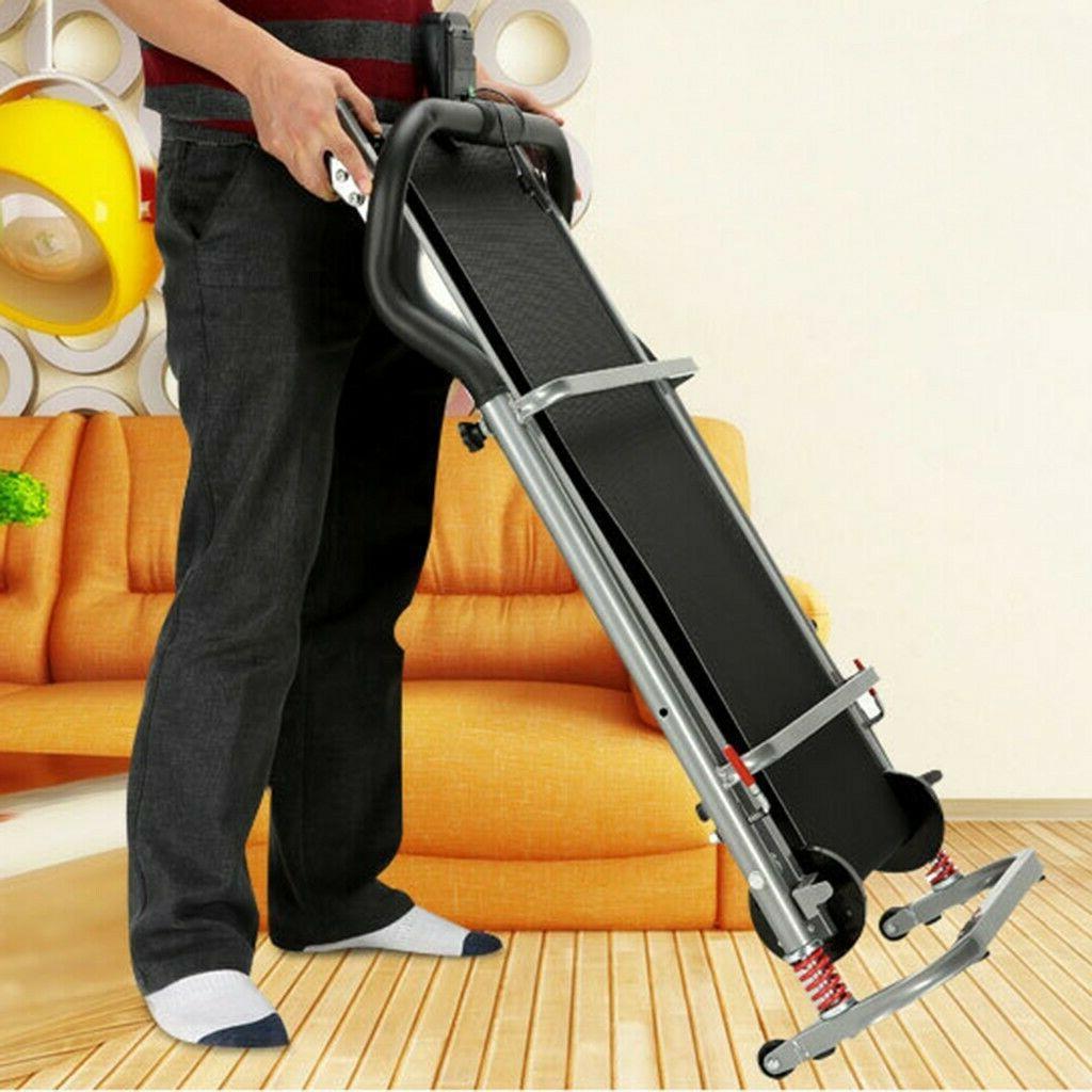 Folding Manual Treadmill Machine Fitness Incline
