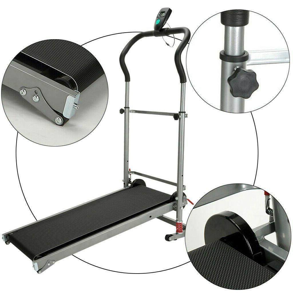 Folding Manual Treadmill Machine Cardio Exercise