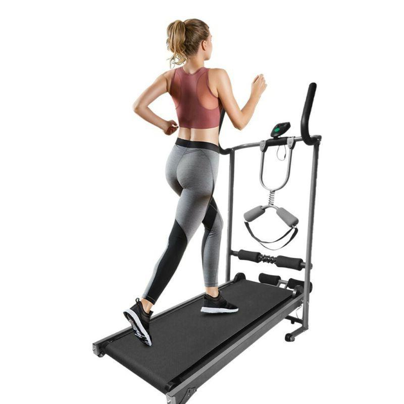 Home Folding Mechanical Power Treadmill Cardio Walking Fitne