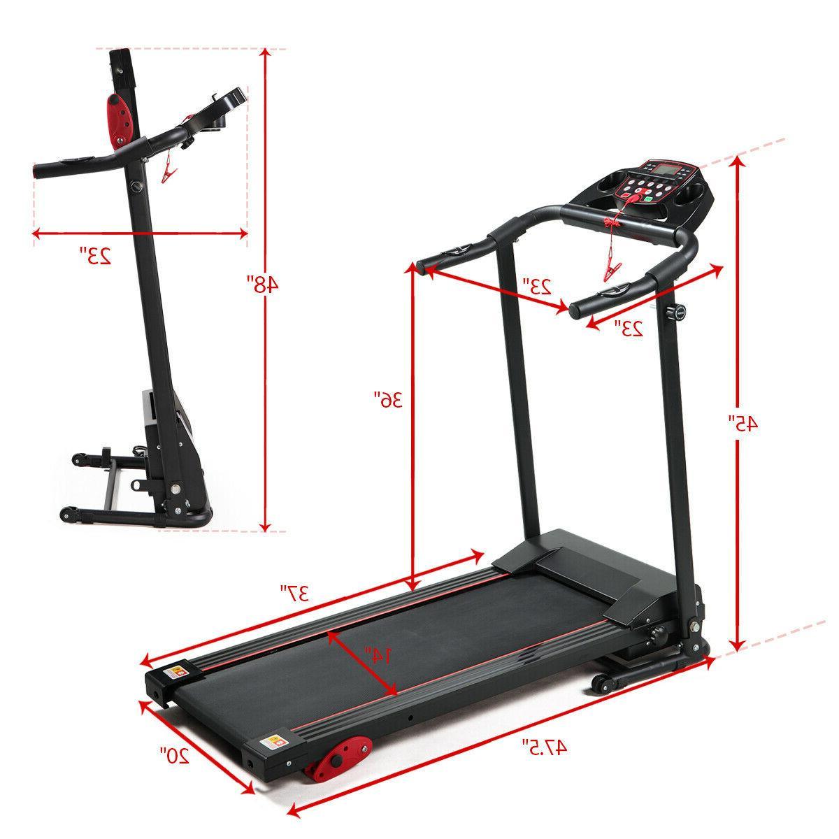 Folding Treadmill Motorized Power Running Fitness Machine