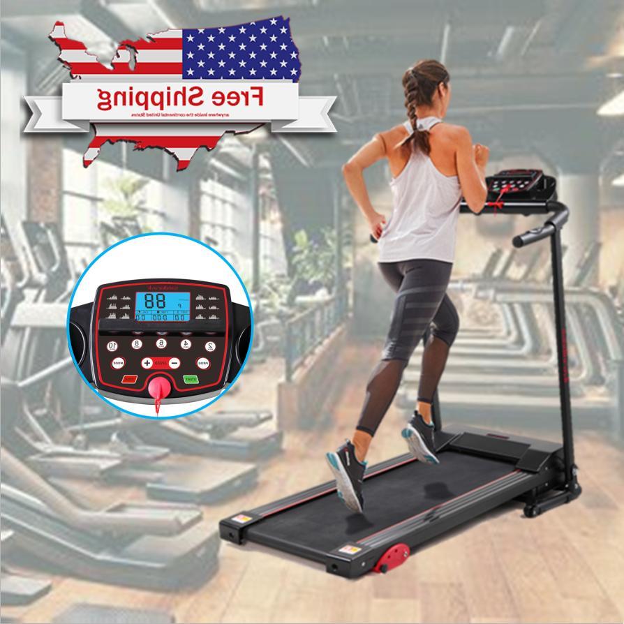 folding treadmill support electric motorized power running