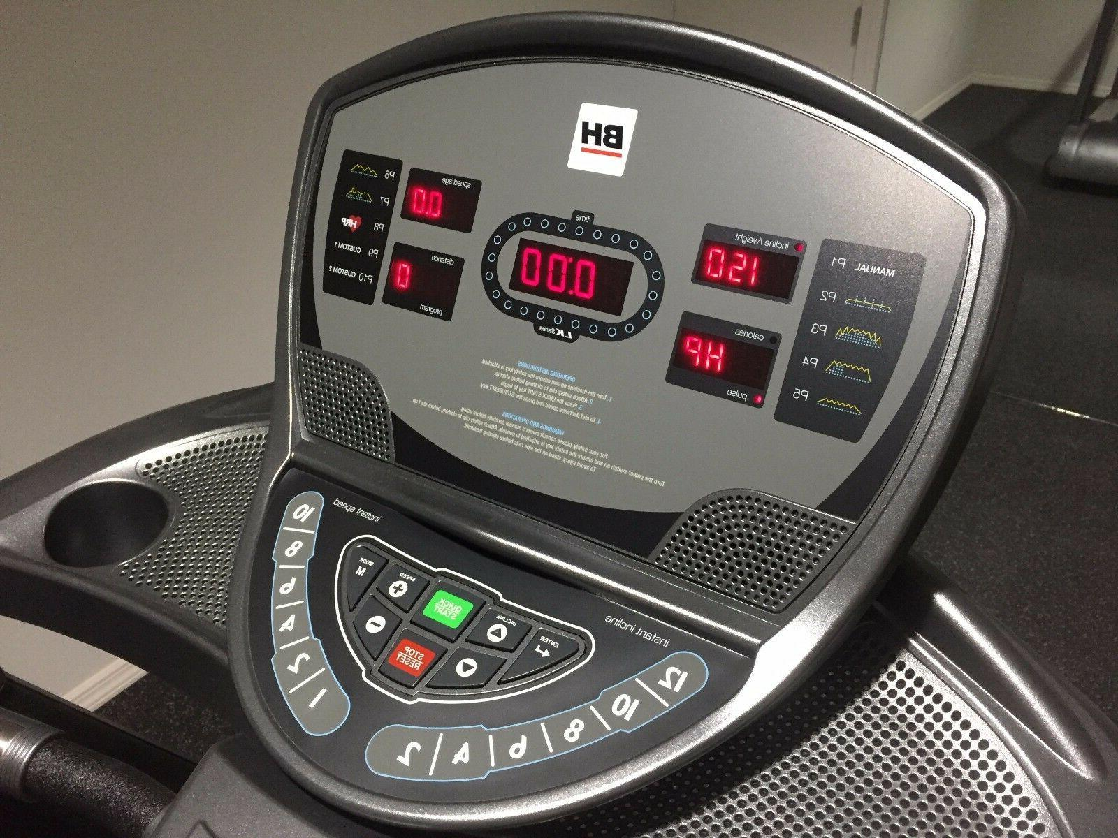 BH Fitness T8 treadmill with medical rails with warranty