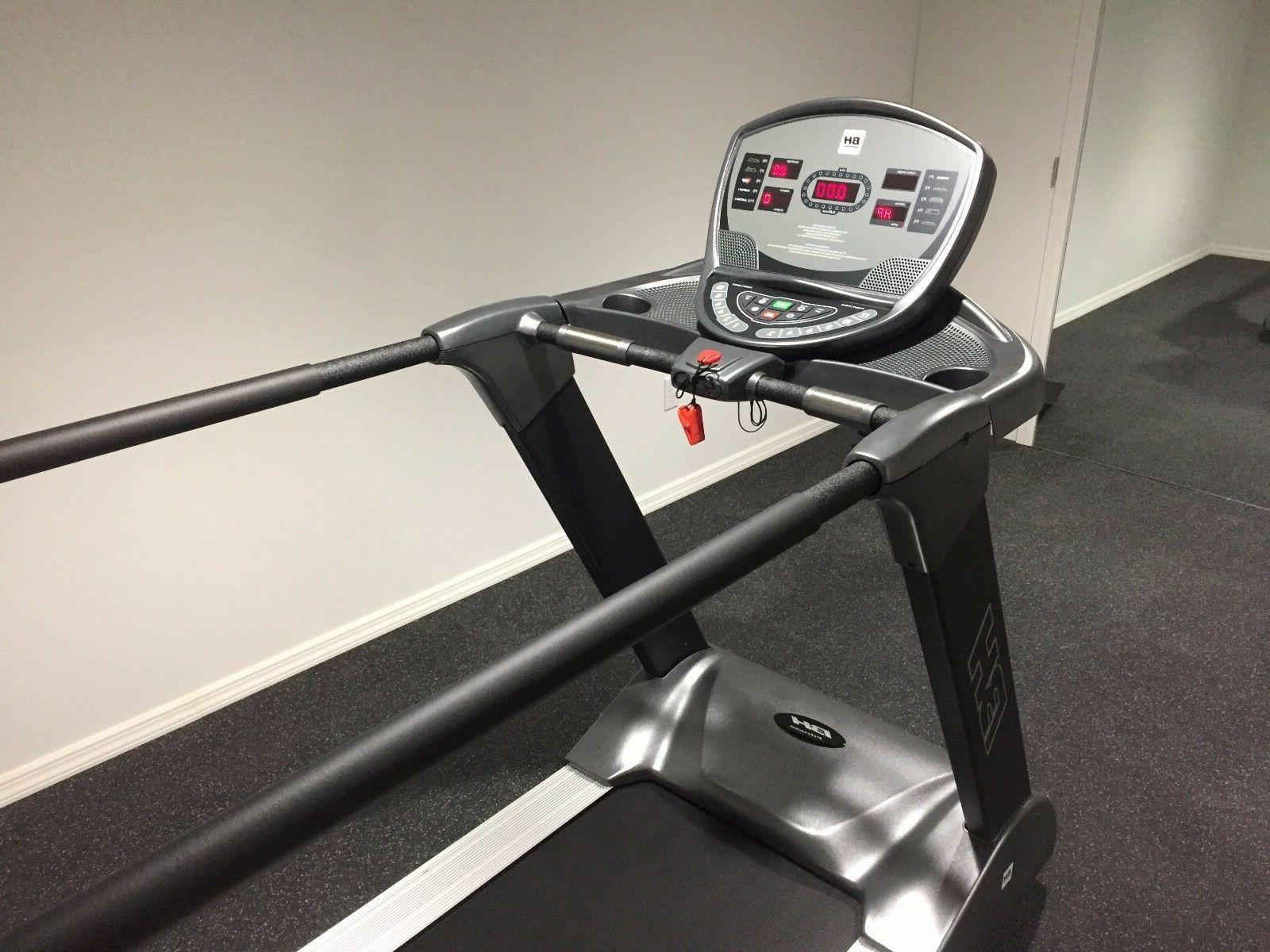 BH Fitness T8 treadmill with medical rails with