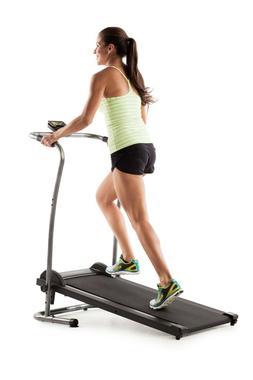 Manual Treadmill Machine Portable Folding LCD Cardio Fitness