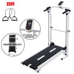 NEW Folding Manual Treadmill Portable Running Home Fitness W