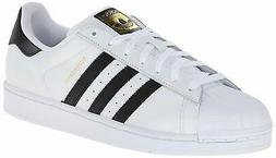 adidas Originals Men's Superstar Running Shoe, White/Black/W