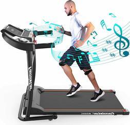 Portable Electric Folding Treadmill, Motorized Running Joggi