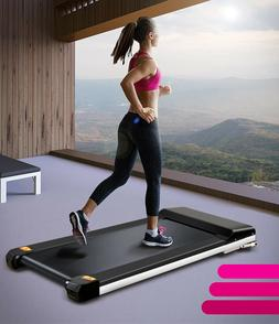 Portable Treadmill with Foldable Wheels Sports App Remote Co
