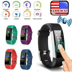 Sports Fitness Tracker Watch Heart Rate Blood Pleasure Activ