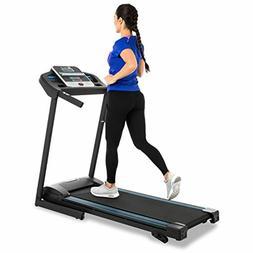 Treadmill Foldable Heavy-Duty Steel Frame, Fitness Electric